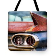 1961 Cadillac Tail Light And Fin Tote Bag