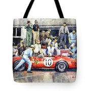 1961 Le Mans 1961 Ferrari 250 Tri Olivier Gendebien Phil Hill Winner  Tote Bag