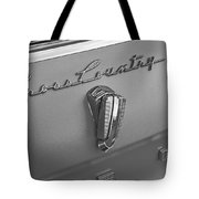 1961 Rambler Emblem B And W Tote Bag
