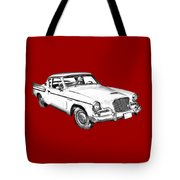 1961 Studebaker Hawk Coupe Illustration Tote Bag