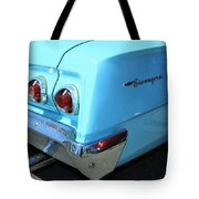 1962 Chevy - Chevrolet Biscayne Logos And Tail Lights Tote Bag
