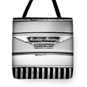 1963 Austin-healey 3000 Mk II Black And White Tote Bag