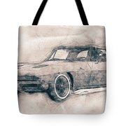 1963 Chevrolet Corvette Sting Ray - 1963 - Automotive Art - Car Posters Tote Bag