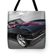 1963 Corvette Stingray Split Window In Black And Red Tote Bag