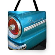 1963 Ford Falcon Tail Light And Logo Tote Bag