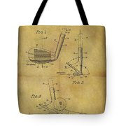 1963 Sand Wedge Patent Tote Bag