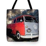 1963 Volkswagen Double Cab Truck Tote Bag