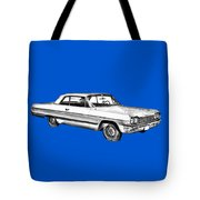 1964 Chevrolet Impala Car Illustration Tote Bag