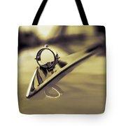 1964 Ford Galaxie 500 Xl Hood Ornament - Sepia Tote Bag