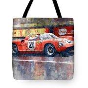 1964 Lemans 24 Ferrari 275p Ludovico Scarfiotti  Tote Bag