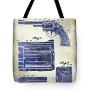 1964 Smith And Wesson Gun Patent Two Tone Tote Bag