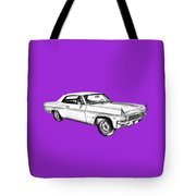 1965 Chevy Impala 327 Convertible Illuistration Tote Bag