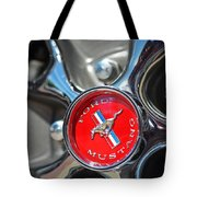1965 Classic Ford Mustang Rim Color Tote Bag
