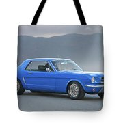 1965 Ford Mustang 'blue Coupe' I Tote Bag