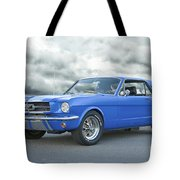 1965 Ford Mustang 'blue Coupe' IIa Tote Bag
