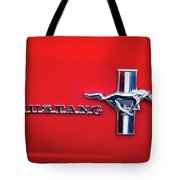 1965 Ford Mustang Emblem 4 Tote Bag