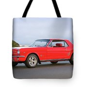 1965 Ford Mustang 'red Coupe' I Tote Bag