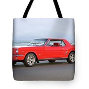 1965 Ford Mustang 'red Coupe' II Tote Bag