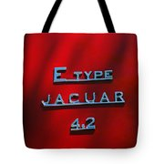 1965 Jaguar E Type Emblem Tote Bag
