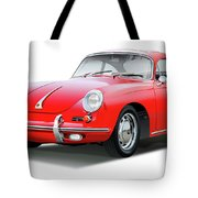 1965 Porshe 356 Sc Coupe Tote Bag