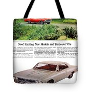 1966 Chevrolet Chevelle Turbo-jet V8's Tote Bag
