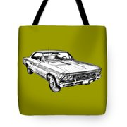 1966 Chevy Chevelle Ss 396 Illustration Tote Bag