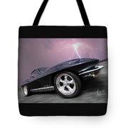 1966 Corvette Stingray With Lightning Tote Bag