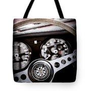 1966 Jaguar Xk-e Steering Wheel Emblem -2489ac Tote Bag
