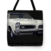 1966 Pontiac Gto Convertible Tote Bag