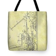 1966 Riding Mower Patent Tote Bag