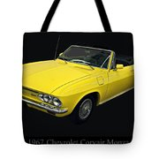 1967 Chevy Corvair Monza Tote Bag