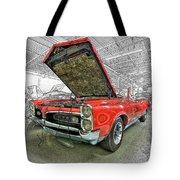 1967 Pontiac Gto American Muscle Car Tote Bag