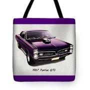 1967 Purple Pontiac Gto Tote Bag