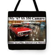 1967 Ss 350 Camaro Scharf Tote Bag