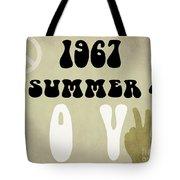 1967 Summer Of Love Newspaper Tote Bag
