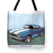 1968 Chevrolet Camaro Z 28 Tote Bag