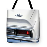 1968 Chevy - Chevrolet Camaro Tail Lights And Logo Tote Bag
