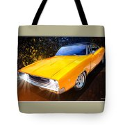 1968 Dodge Charger Coupe Tote Bag