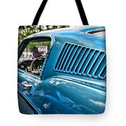 1968 Ford Mustang Fastback In Blue Tote Bag
