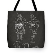 1968 Hard Space Suit Patent Artwork - Gray Tote Bag by Nikki Marie Smith