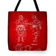 1968 Hard Space Suit Patent Artwork - Red Tote Bag by Nikki Marie Smith