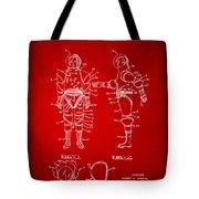 1968 Hard Space Suit Patent Artwork - Red Tote Bag