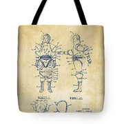 1968 Hard Space Suit Patent Artwork - Vintage Tote Bag