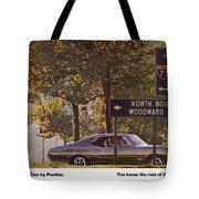 1968 Pontiac Gto - Woodward - The Great One By Pontiac Tote Bag