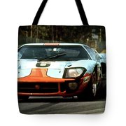 1969 24 Hours Of Le Mans Ford Gt40 First Place, Mixed Media  Tote Bag