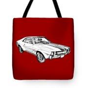 1969 Amc Javlin Car Illustration Tote Bag