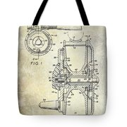 1969 Fly Reel Patent Tote Bag