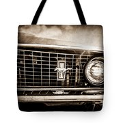 1969 Ford Mustang Grille Emblem -0129s Tote Bag