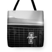 1969 Ford Mustang Grille Emblem -0133bw Tote Bag
