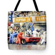 1969 Le Mans 24 Ferrari 312p Pedro Rodriguez  David Piper Tote Bag